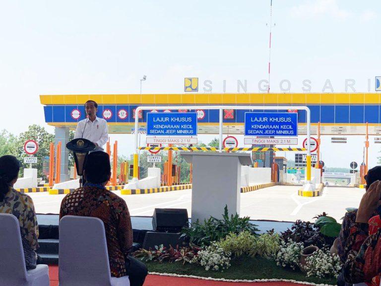 Jokowi Resmikan Jalan Tol Pandaan-Malang