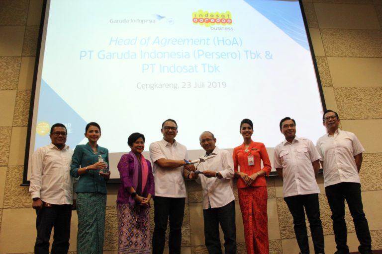 Kerja Sama Garuda Indonesia dan Indosat Optimalisasi Transformasi Digital