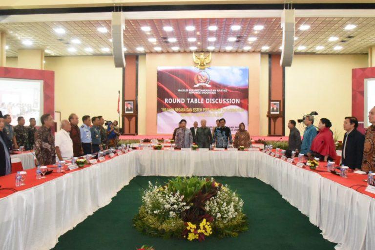 Gelar Round Table Discussion, Bahas Wilayah Hingga Hankam Sesuai Konstitusi