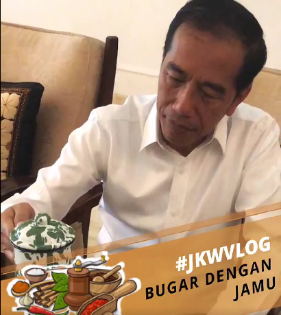 Ngevlog Sebelum Ngantor, Jokowi Bagi Resep Kebugaran Tubuh