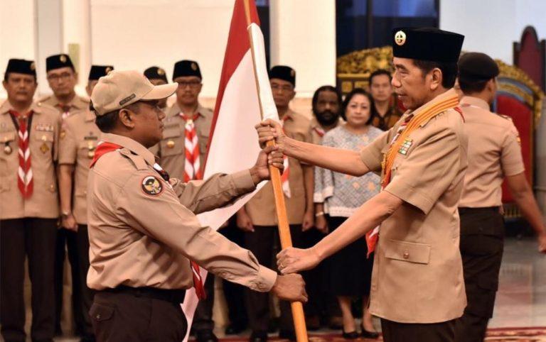 Lepas Kontingen Pramuka ke Jambore Dunia, Jokowi Ngaku Bangga