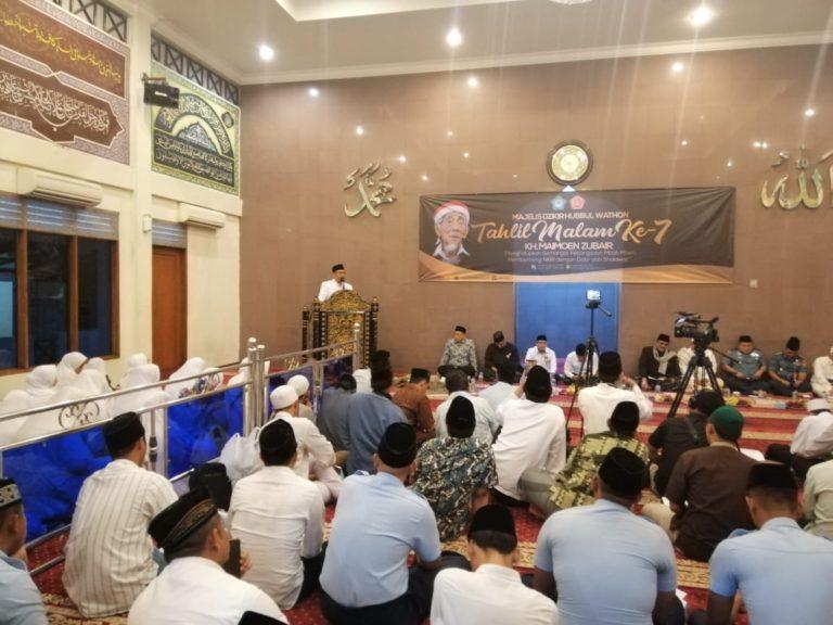 MDHW Gelar Tahlil 7 Hari Wafatnya Mbah Moen bersama Mabes TNI