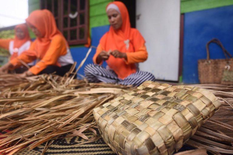 Kampung Gambut Berdikari Pertamina, Sukses Olah Kulit Nanas Menjadi Tas