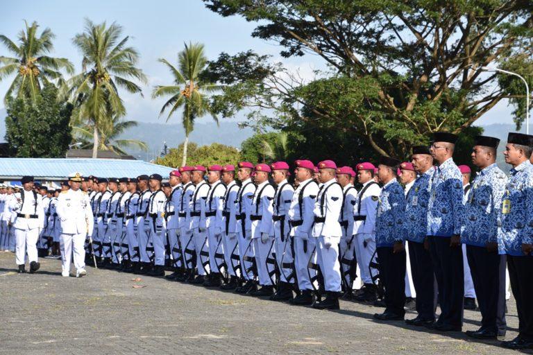 Lantamal IX Ambon Gelar Upacara Peringatan HUT TNI AL ke-74