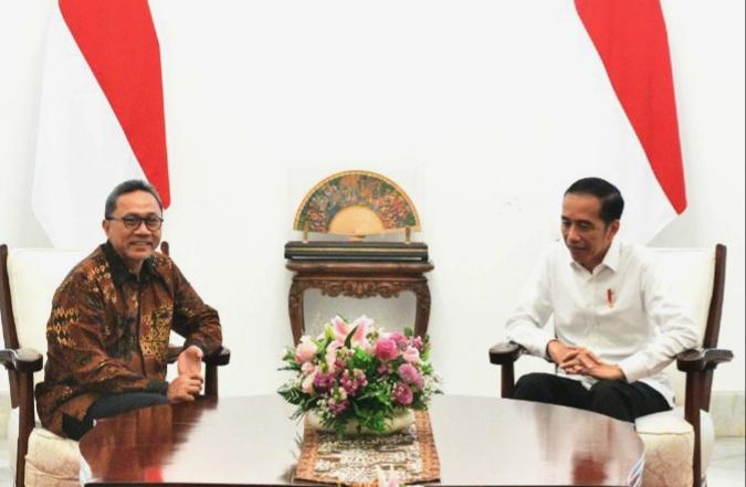 Bertemu Jokowi, Zulkifli Hasan Malu-malu Kucing Ingin Gabung Pemerintahan
