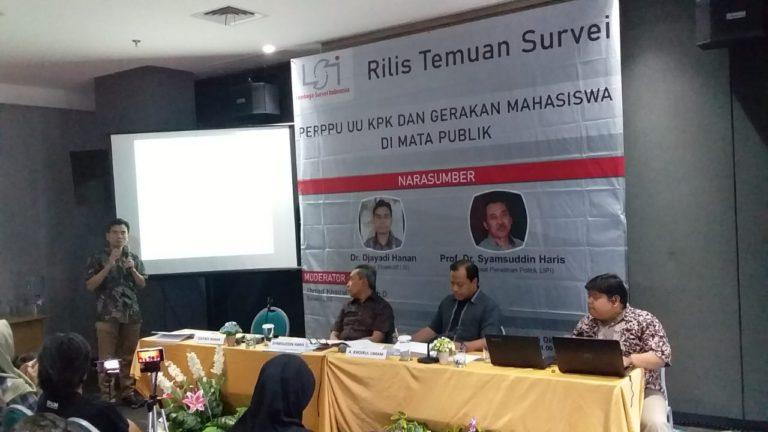 Mayoritas Publik Sebut UU KPK Lemahkan Pemberantasan Korupsi