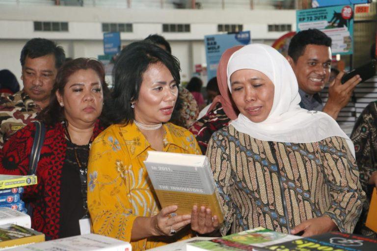 Buka BBW 2019, Gubernur Khofifah Ajak Masyarakat Gemar Membaca