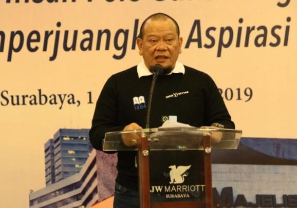 Ketua DPD Minta Senator Angkat Persoalan Daerah ke Tingkat Nasional