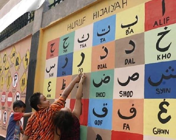 Intip Mural Cantik di Pademangan Timur, Anies Senang Anak-anak jadi Giat Belajar