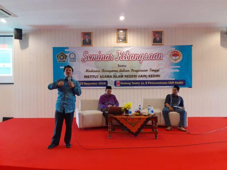 DEMA IAIN Kediri Gelar Seminar Kebangsaan Kuatkan Moderasi Beragama