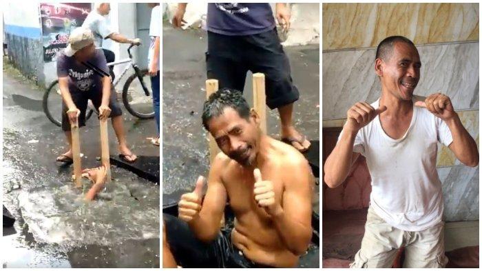 Viral Pria Masuk Gorong-gorong Demi Lancarkan Saluran Air, Patut Diapresiasi