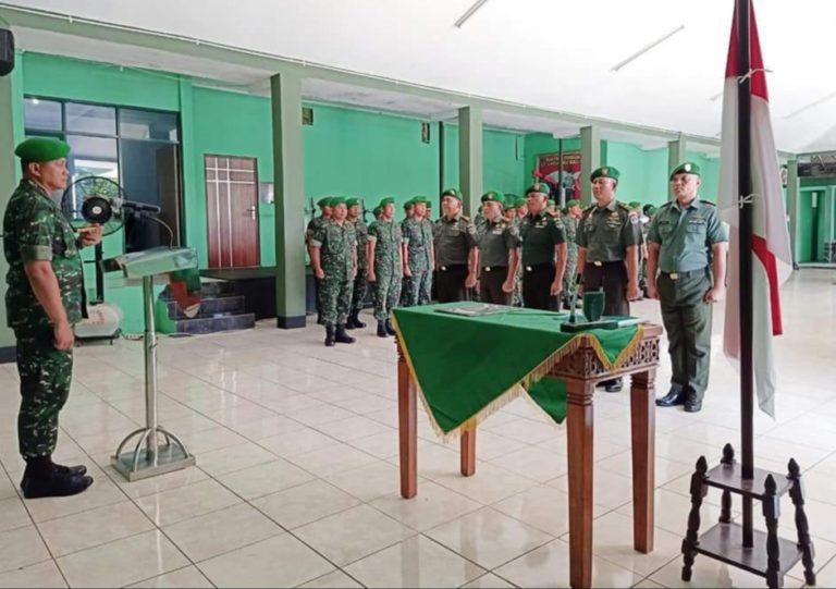 Dandim Depok Pimpin Upacara Sertijab Sejumlah Perwira