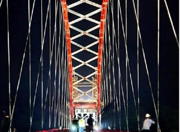 Penampakan Tumbang Samba, Jembatan Cantik Buatan Jokowi yang Bentangi Sungai Katingan