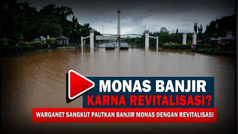 Kebanjiran, Kawasan Monas Berubah jadi Kolam Raksasa