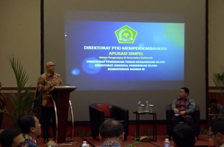 Tunjang Kinerja, Direktorat PTKI Luncurkan Aplikasi Simpel