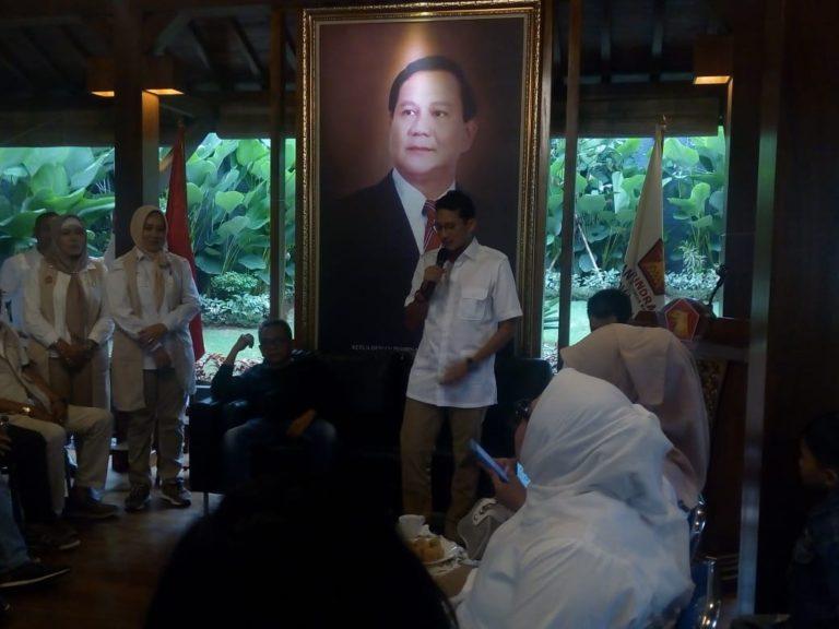 Pesan Sandiaga kepada Riza Patria jika Terpilih jadi Wagub Jakarta