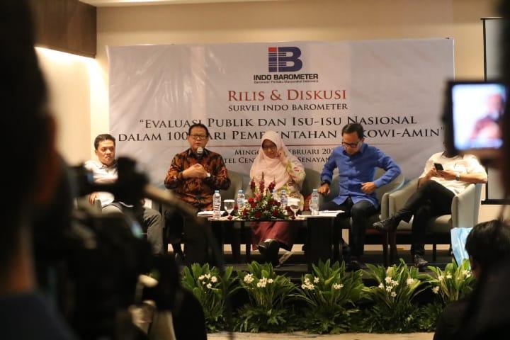 Tingkat Kepuasan Publik terhadap Kabinet Jokowi-Ma'ruf hanya 54,4 Persen