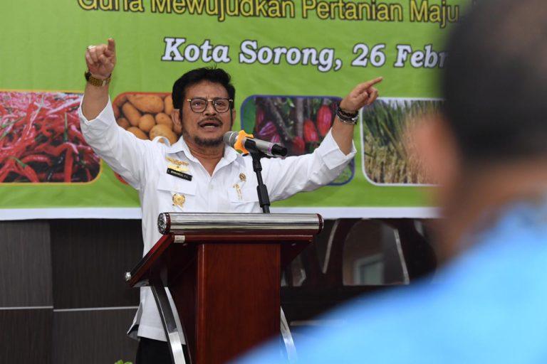 Menteri Syahrul Ajak Petani Papua Barat Tingkatkan Produksi