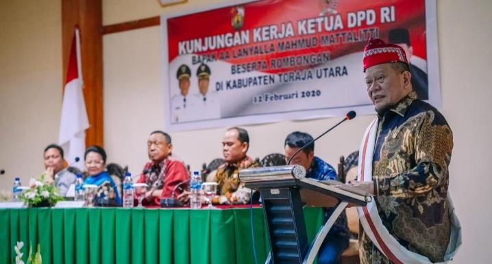 Kunker ke Toraja Utara, Ketua DPD Terima Keluhan Sengketa Tanah Fasum