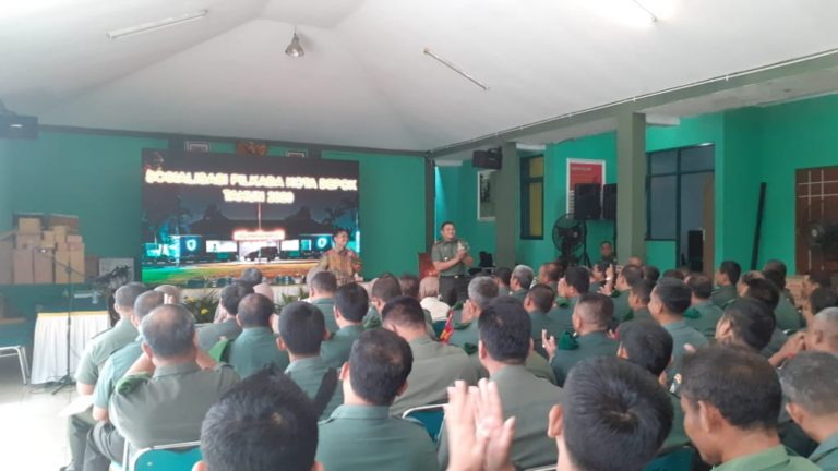 Gelar Sosialisasi Pilwakot 2020, Ketua KPU Depok Apresiasi Kodim