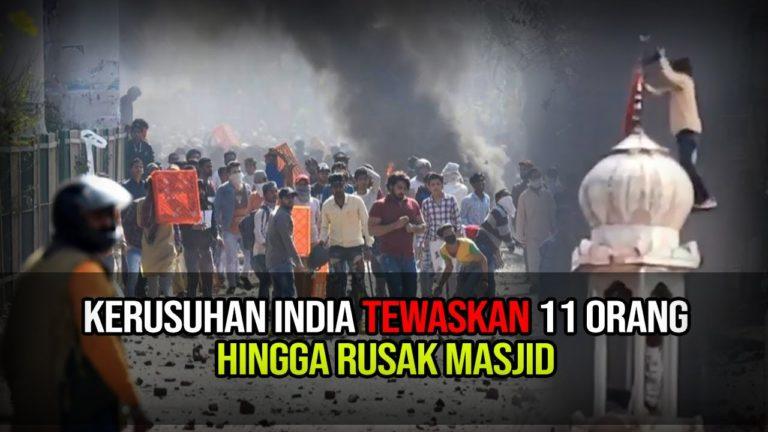 India Rusuh, Massa Beringas Rusak dan Bakar Masjid
