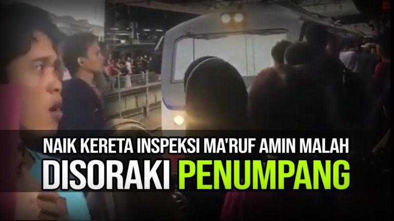 Jadwal KRL Berantakan, Rombongan Wapres Ma'ruf Amin Disoraki Penumpang