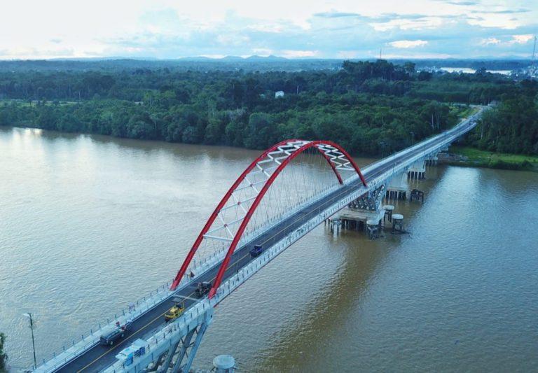 Hampir Rampung, Begini Penampakan Jembatan Tumbang Samba di Kalimantan Tengah