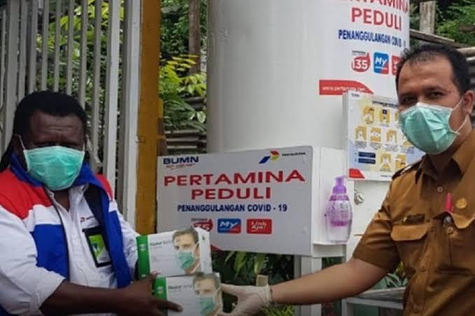 Dari Jakarta hingga Jayapura, Pertamina Perluas Bantuan Masker dan Sembako