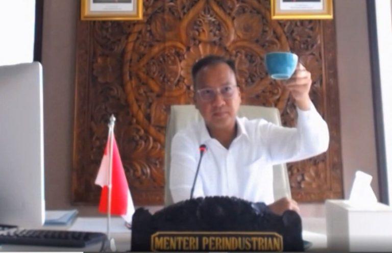 Tekan Dampak Covid-19, Menperin Pacu Kreativitas IKM Kopi Berjualan Online