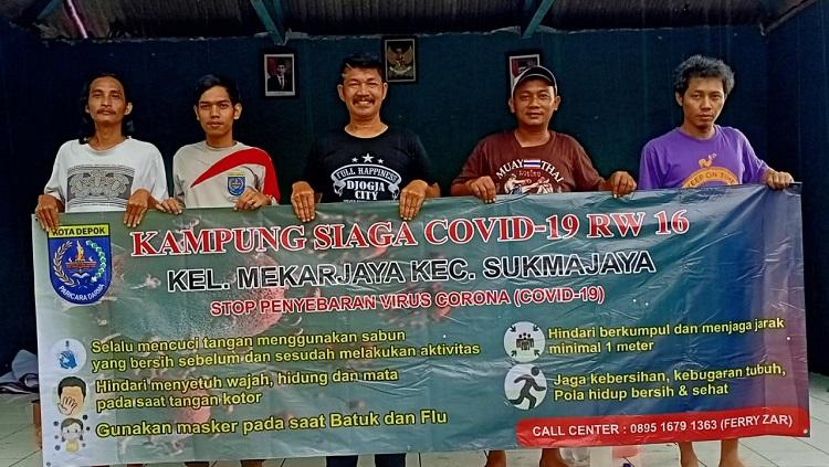 Warga RW 16 Mekarjaya Depok Bentuk Kampung Siaga Covid-19