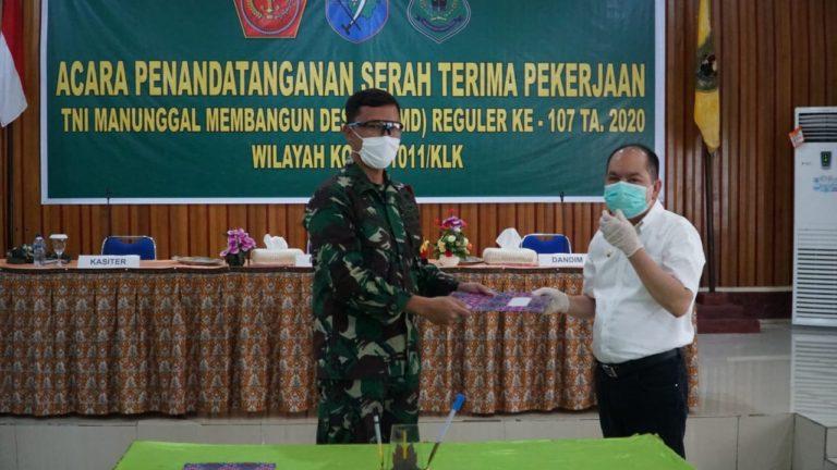 Ditengah Pandemi Corona, Kodam Tanjungpura Sukses Gelar TMMD Ke-107 di Tiga Wilayah