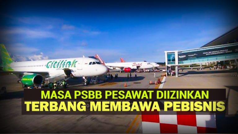 Polemik Pesawat Boleh Angkut Pebisnis di Masa PSBB