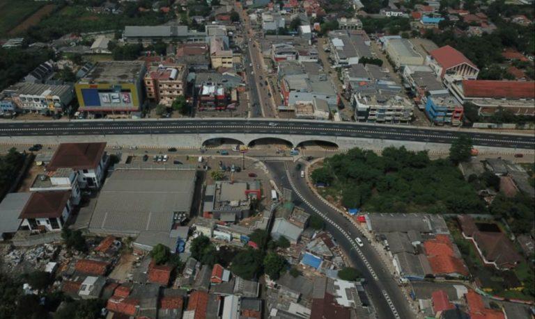Rampung, Flyover Simpang Gaplek Ciputat Tangsel Lakukan Ujicoba Lalu Lintas