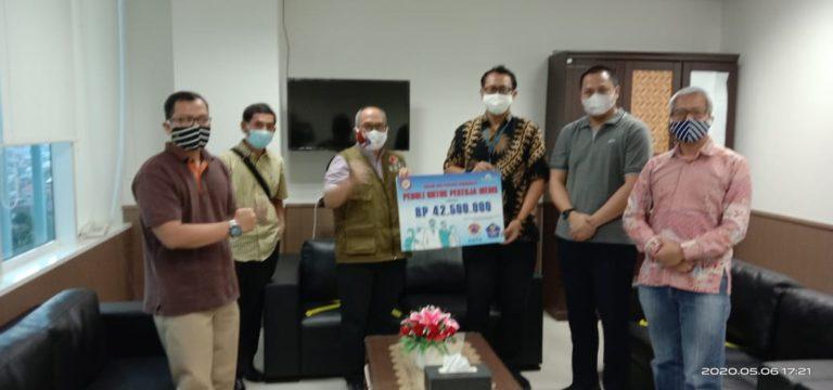 Pekerja Bumiputera Salurkan Donasi untuk Penanganan Covid-19