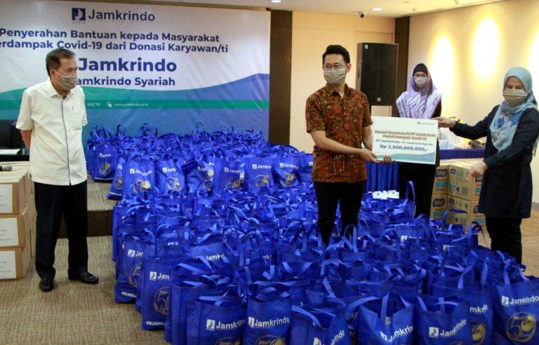 Karyawan Jamkrindo Sukses Kumpulkan Donasi 2,9 M untuk Masyarakat Terdampak Covid-19