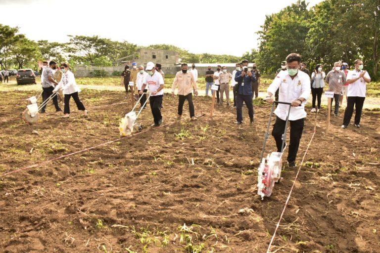 Kokohkan Pangan, Gubernur Sulut Pacu Percepatan Tanam Padi