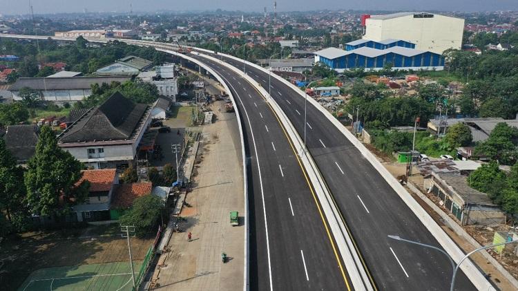 Target Rampung Juni, Pembangunan Kontruksi Jalan Tol BORR Seksi 3A Capai 98,7 Persen