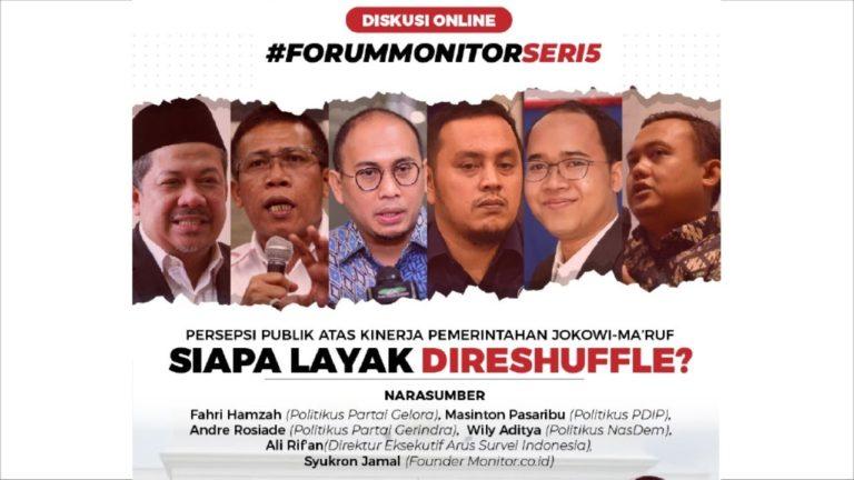 Persepsi Publik atas Kinerja Pemerintahan Jokowi-Ma'ruf; Siapa Layak Direshuffle?