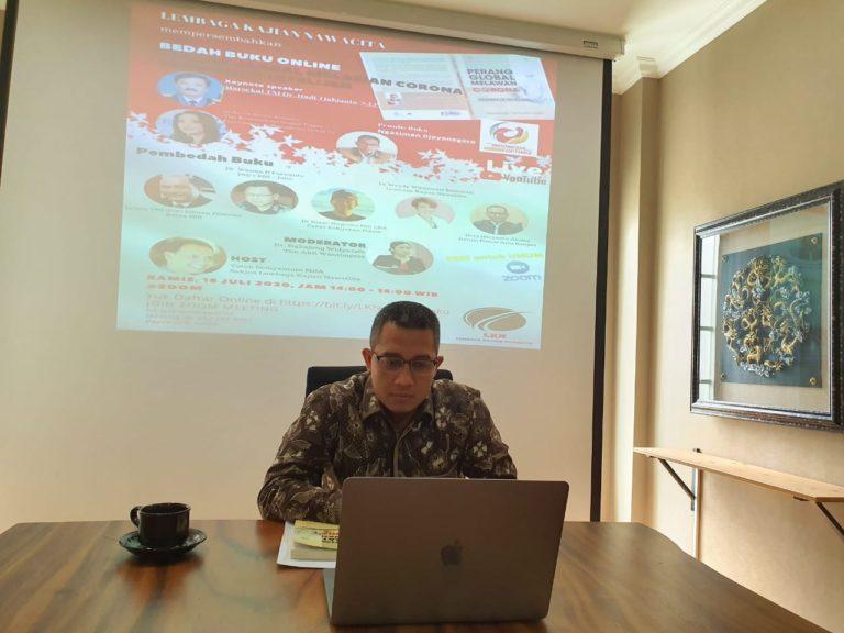 Launching Buku 'Perang Global Melawan Corona', Analis Intelijen ini Banjir Apresiasi