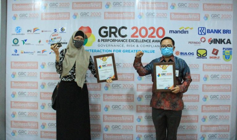 PT Jamkrindo Raih Dua Penghargaan GRC Award 2020