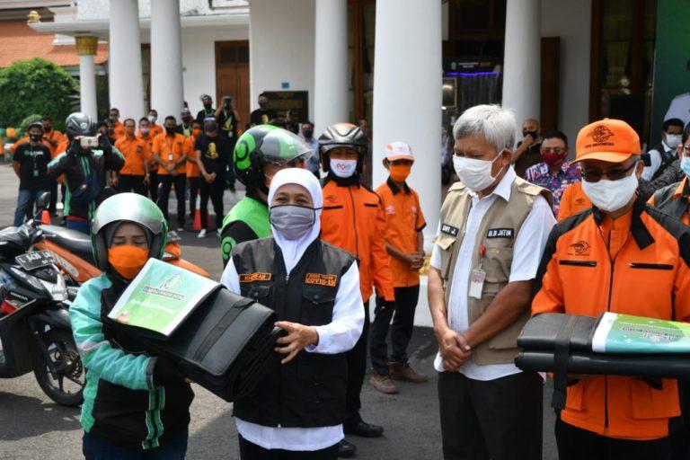 Gandeng Ojol dan PT Pos, Khofifah Perluas Layanan Lumbung Pangan ke 28 Daerah Jatim
