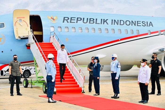 Kunker ke Kalteng, Jokowi Tinjau Lokasi Food Estate Hingga Posko Covid-19