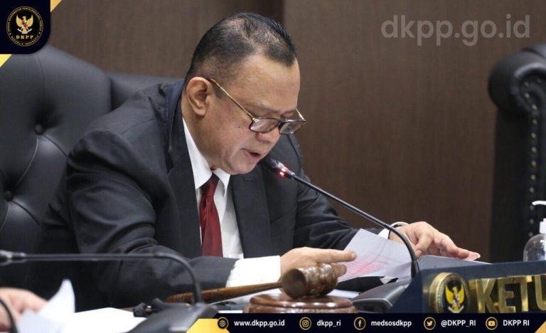 DKPP Jatuhkan Sanksi Peringatan Keras kepada Dua Penyelenggara Pemilu