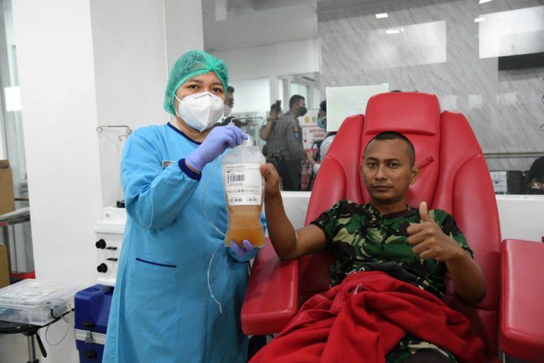 32 Perwira Secapa AD Ikuti Donor Plasma Darah Lanjutan