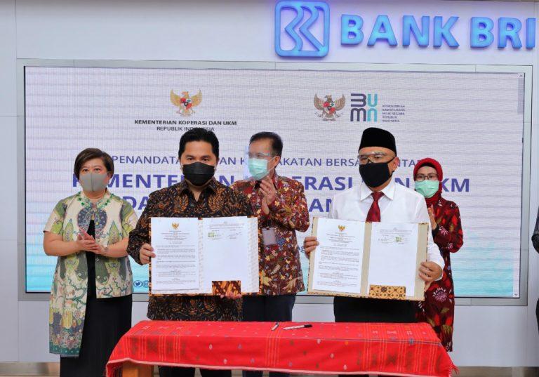 Jamkrindo Kolaborasi Pemulihan Ekonomi Bersama Kemenkop UKM dan Kementerian BUMN