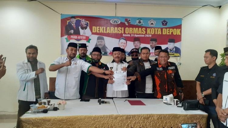 Lima Ormas Klaim Wakili 50.000 Warga Dukung Pradi-Afifah di Pilwalkot Depok