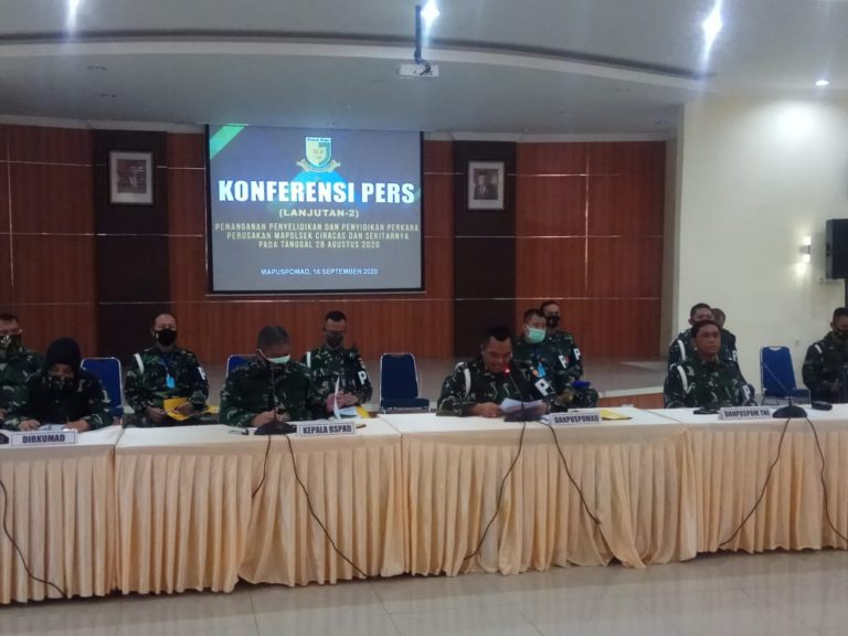 63 Prajurit TNI AD Jadi Tersangka Penyerangan Polsek Ciracas