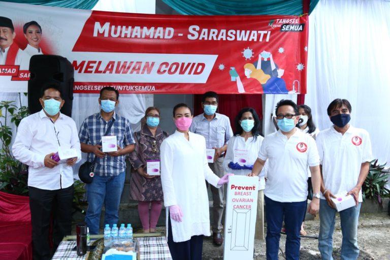 Saraswati Serahkan 10 Ribu Alat Rapid Test ke Tenaga Medis di Tangsel