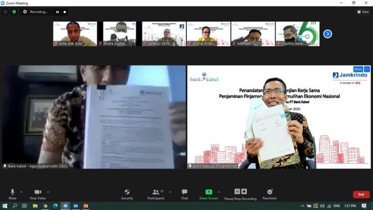 Jamkrindo Kerjasama dengan Bank Kalsel untuk Jamin Kredit Modal Kerja