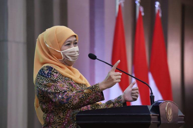 Kampanye Hari Pertama, Gubernur Khofifah Ingatkan Protokol Kesehatan